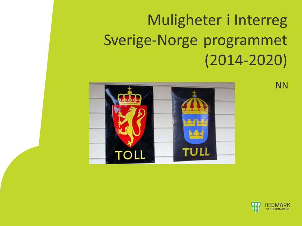 Muligheter i Interreg Sverige-Norge programmet (2014-2020)