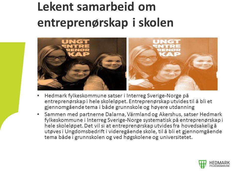 Lekent samarbeid om entreprenørskap i skolen