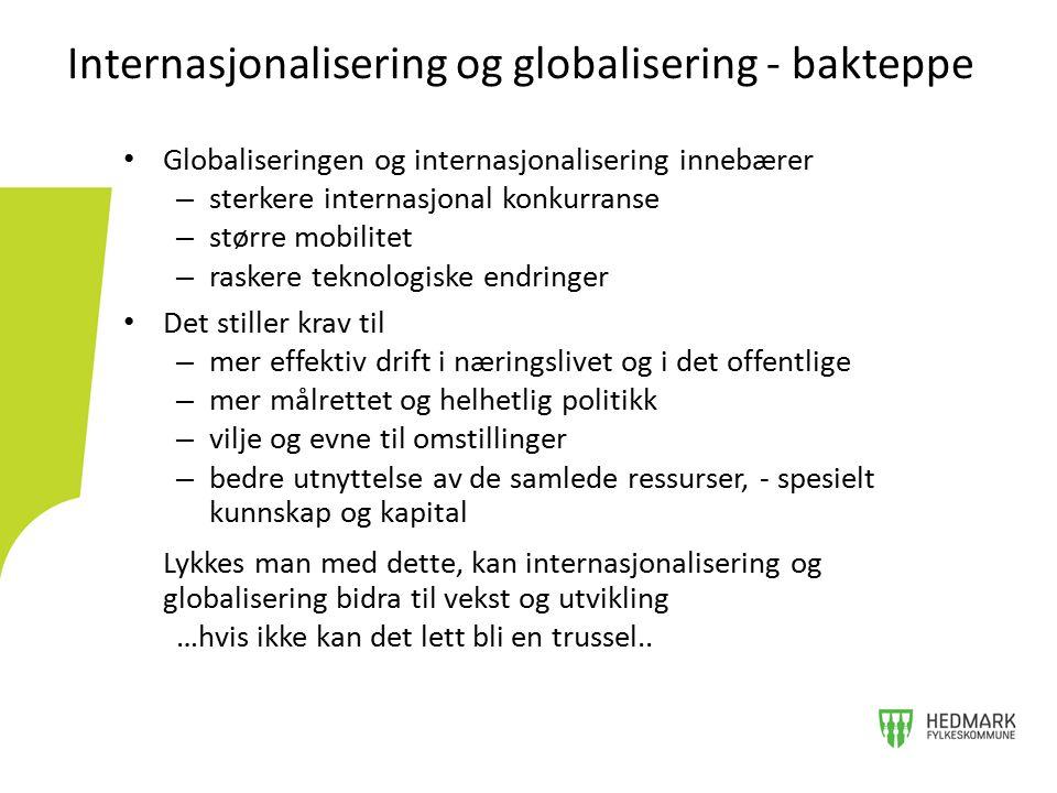 Internasjonalisering og globalisering - bakteppe