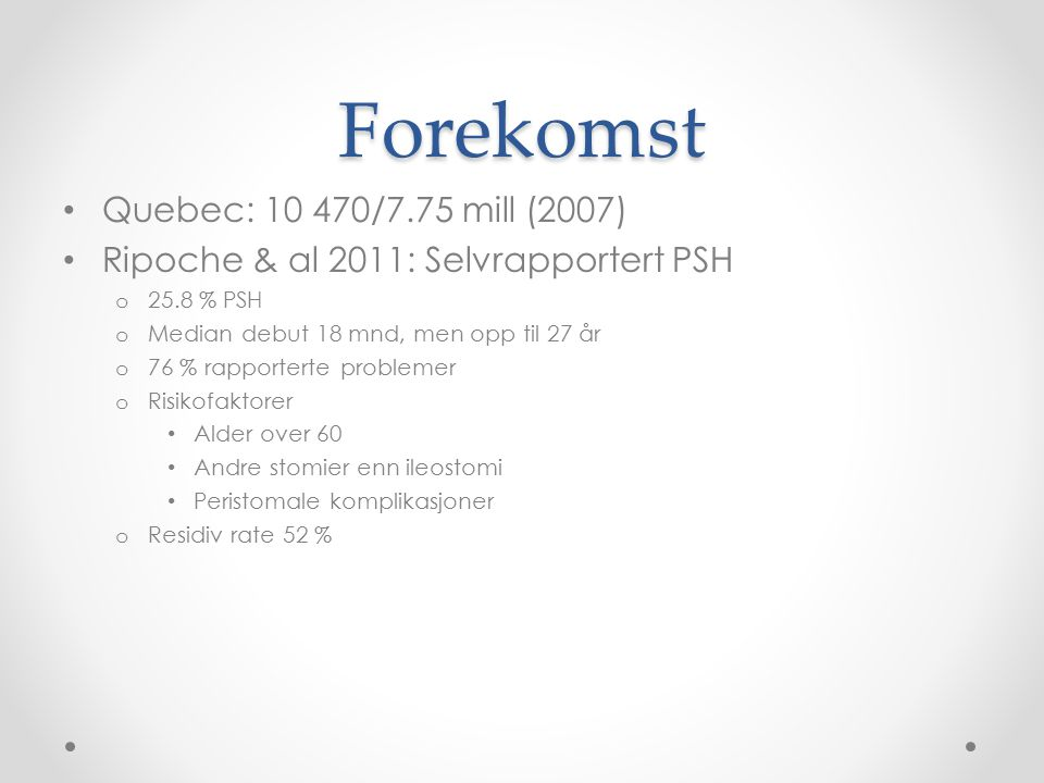 Forekomst Quebec: 10 470/7.75 mill (2007)