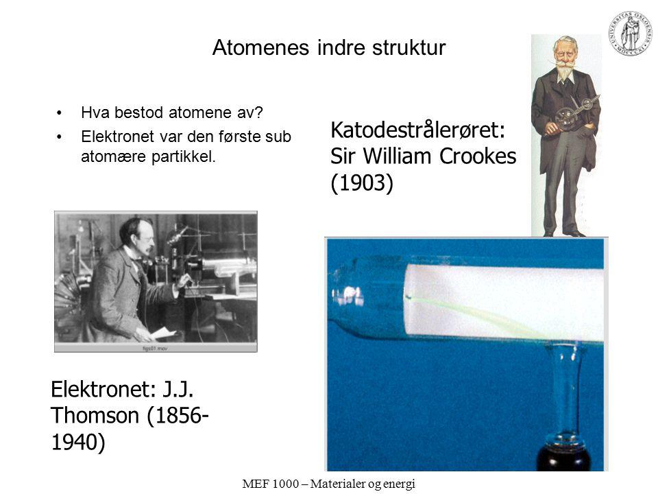 Atomenes indre struktur