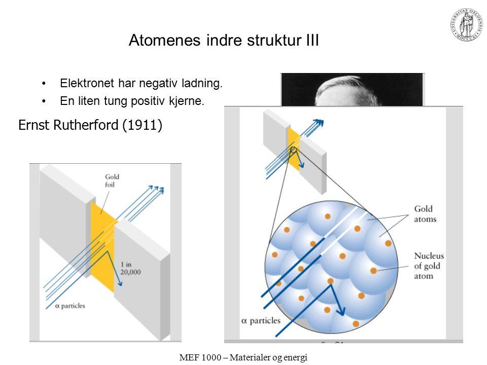 Atomenes indre struktur III