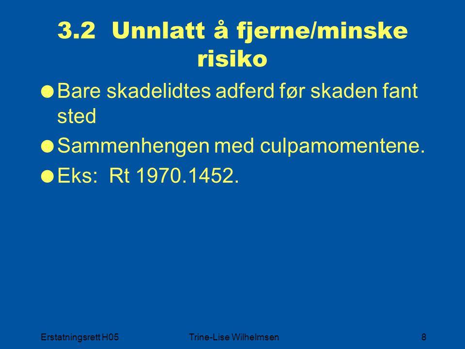 3.2 Unnlatt å fjerne/minske risiko