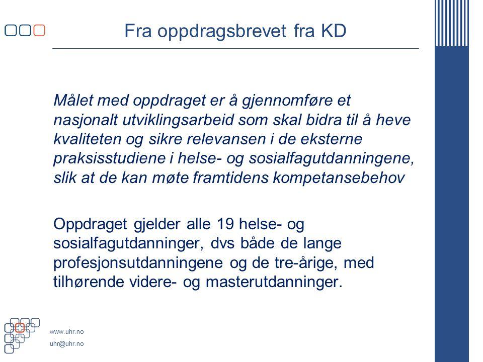 Fra oppdragsbrevet fra KD