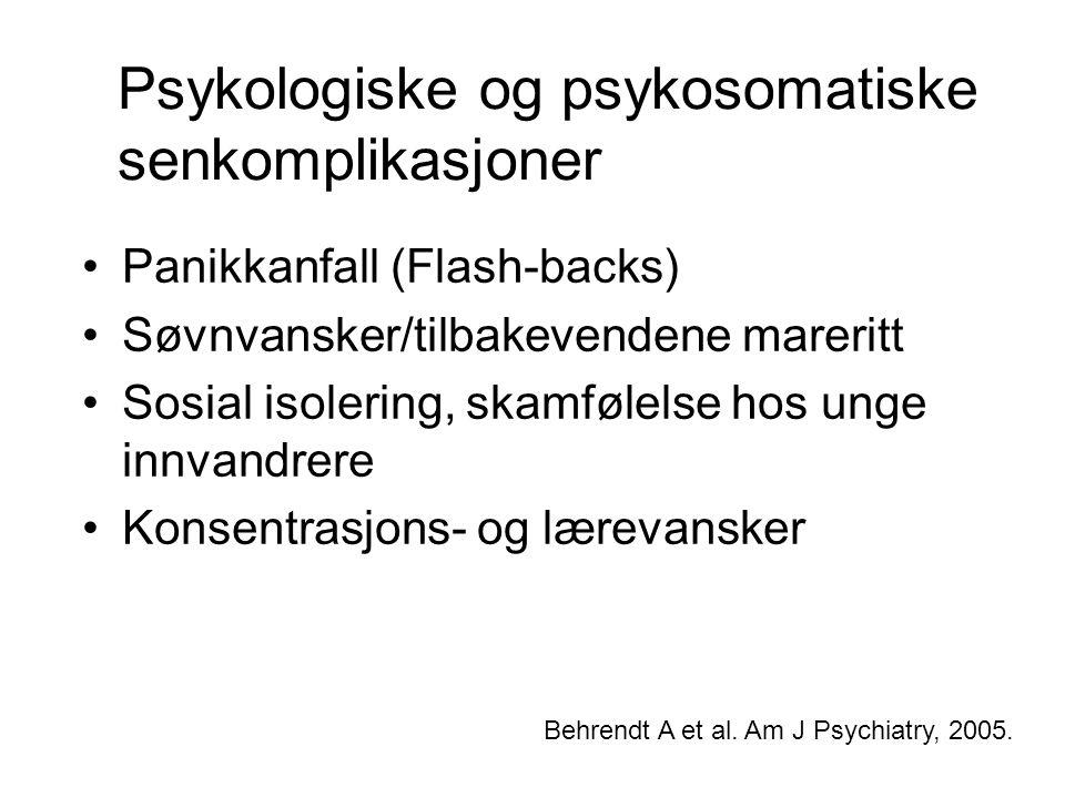 Psykologiske og psykosomatiske senkomplikasjoner
