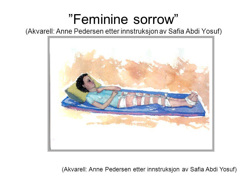 Feminine sorrow (Akvarell: Anne Pedersen etter innstruksjon av Safia Abdi Yosuf)
