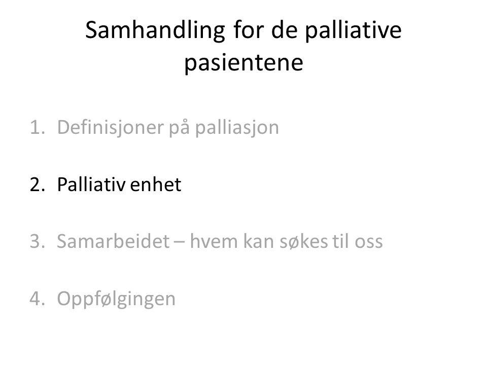 Samhandling for de palliative pasientene