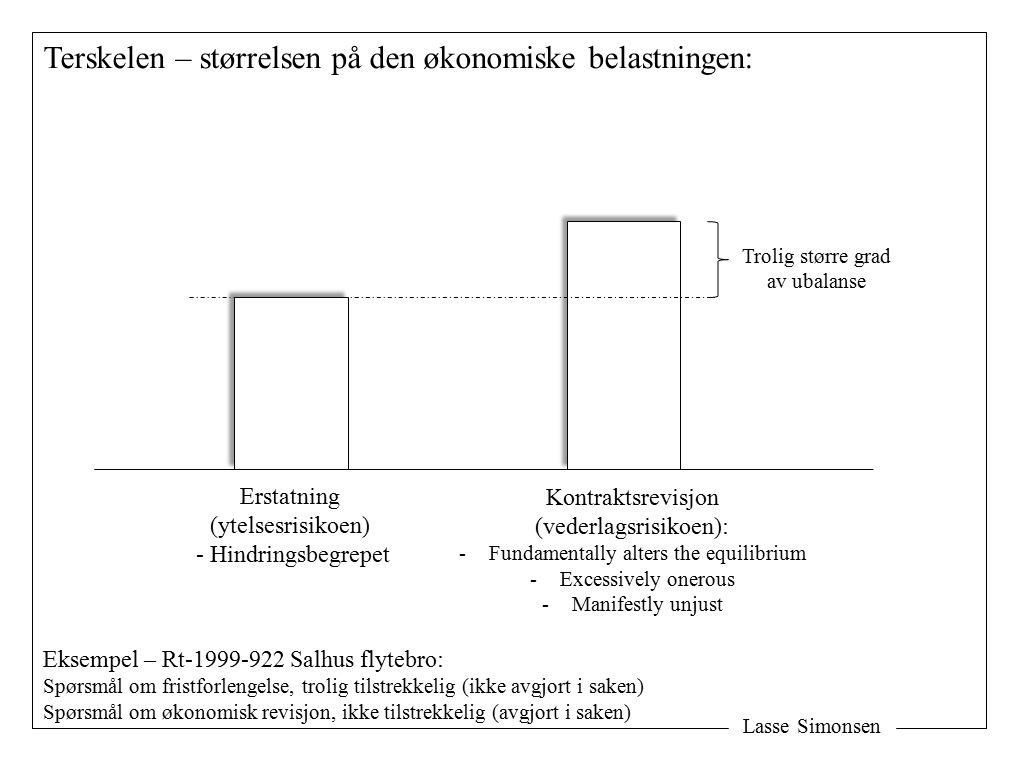 Terskelen – størrelsen på den økonomiske belastningen: