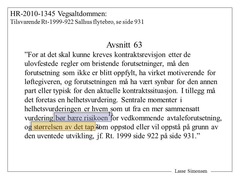 Avsnitt 63 HR-2010-1345 Vegsaltdommen: