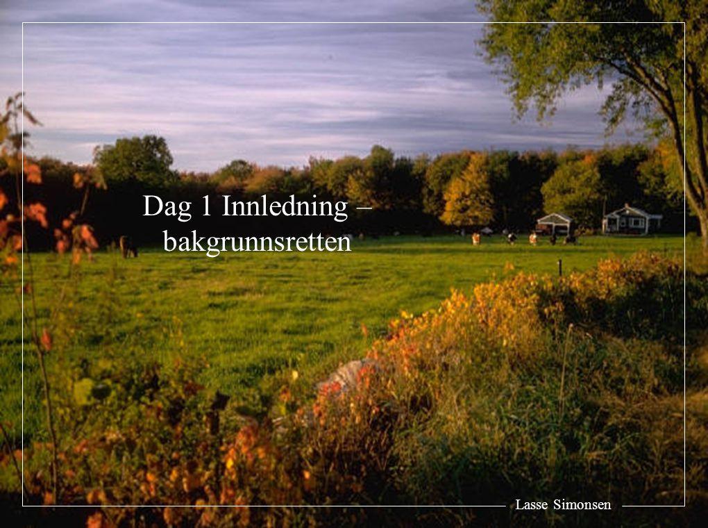 Dag 1 Innledning – bakgrunnsretten Lasse Simonsen