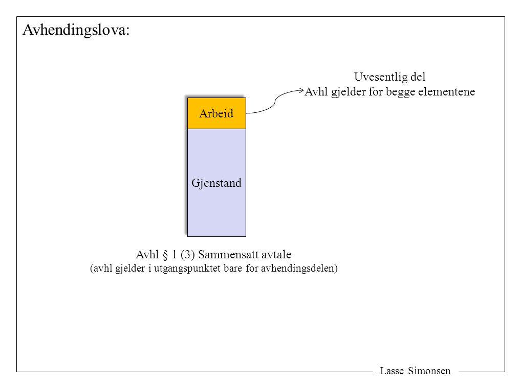 Avhendingslova: Uvesentlig del Avhl gjelder for begge elementene