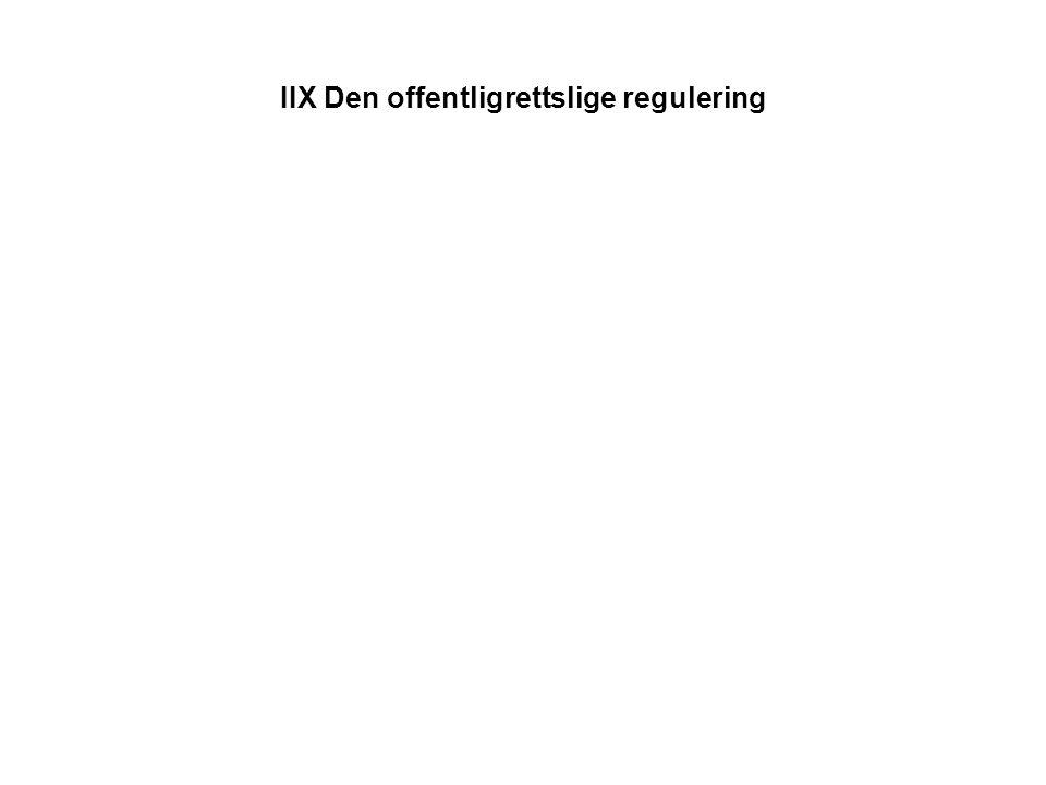 IIX Den offentligrettslige regulering