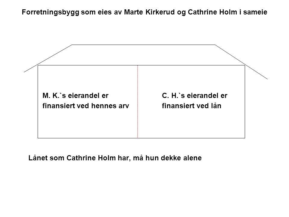 Forretningsbygg som eies av Marte Kirkerud og Cathrine Holm i sameie