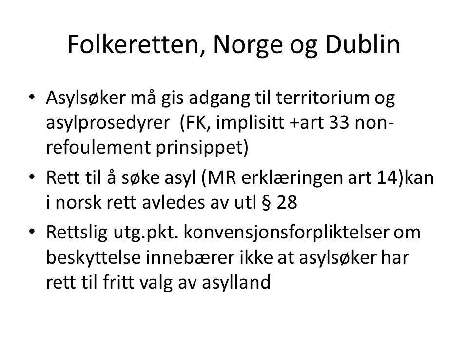 Folkeretten, Norge og Dublin
