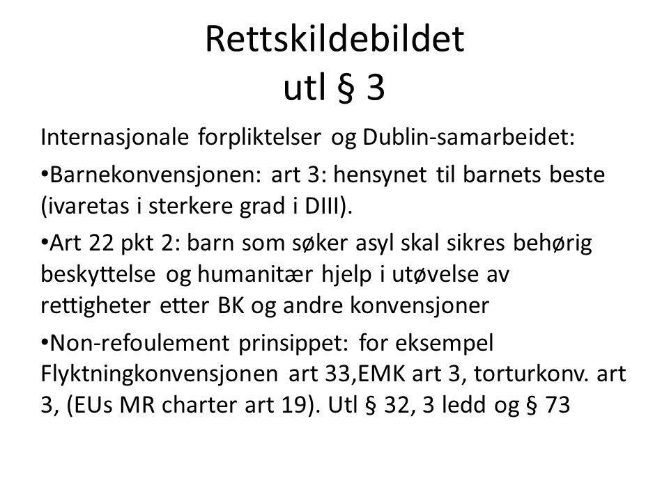 Rettskildebildet utl § 3
