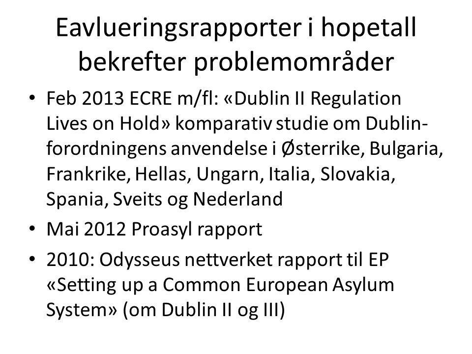 Eavlueringsrapporter i hopetall bekrefter problemområder