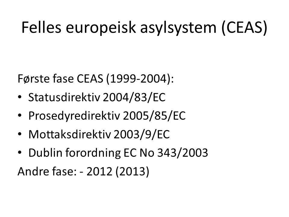 Felles europeisk asylsystem (CEAS)