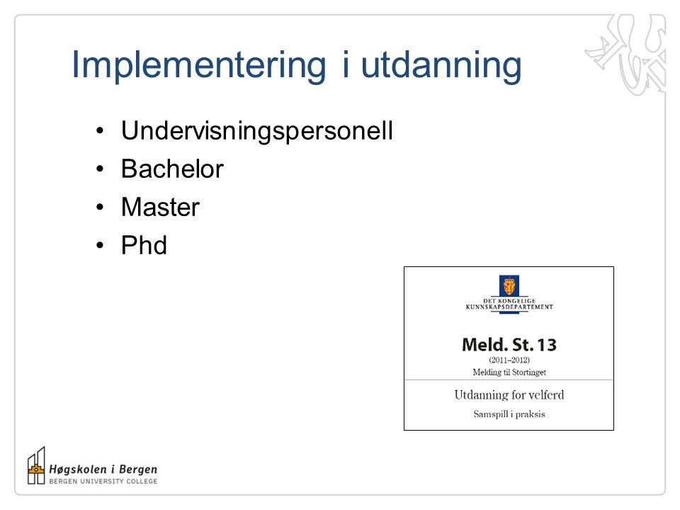 Implementering i utdanning