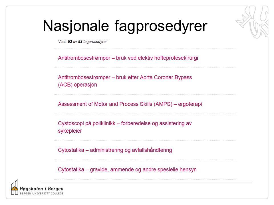 Nasjonale fagprosedyrer