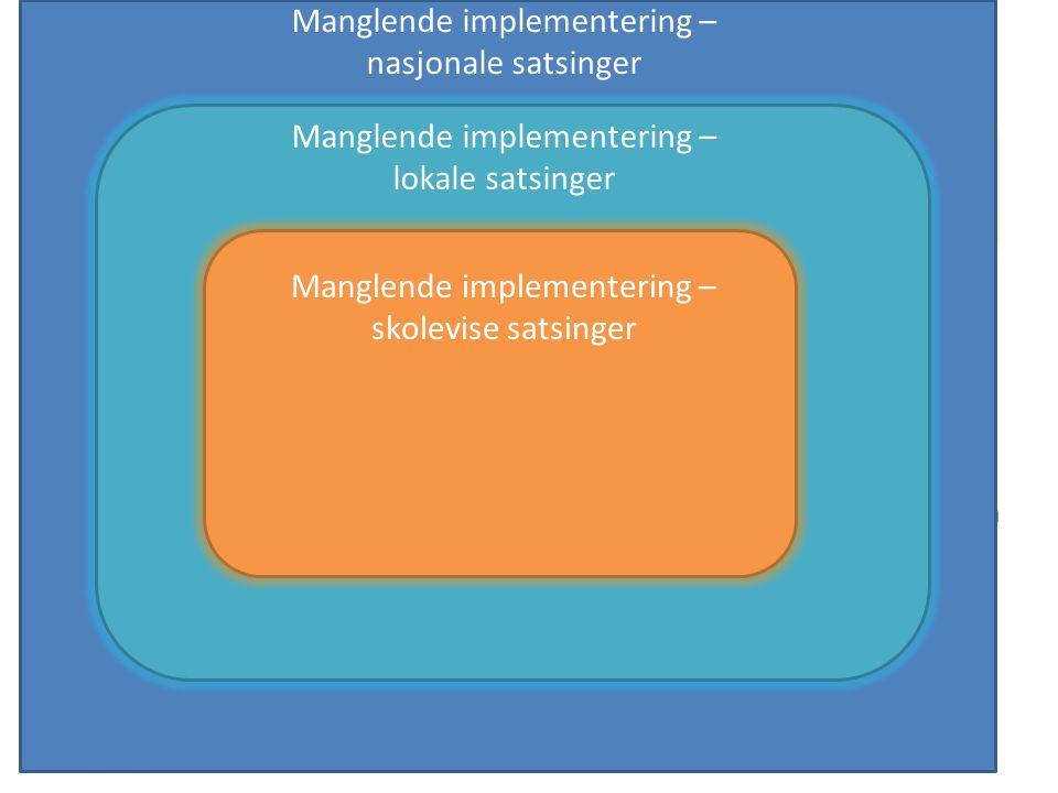 Manglende implementering – nasjonale satsinger