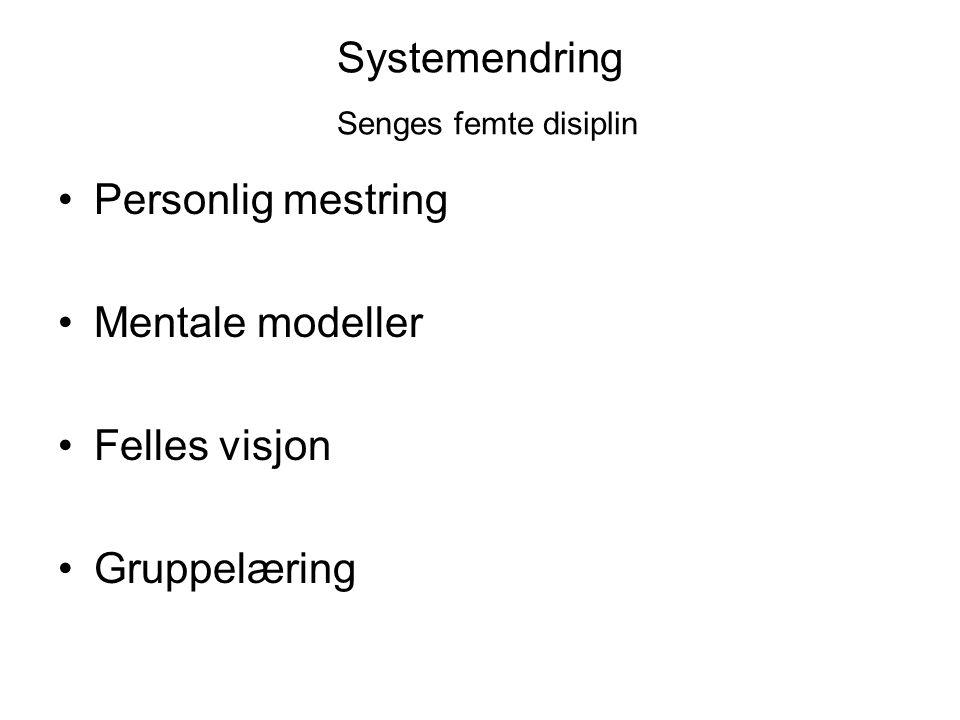 Systemendring Senges femte disiplin
