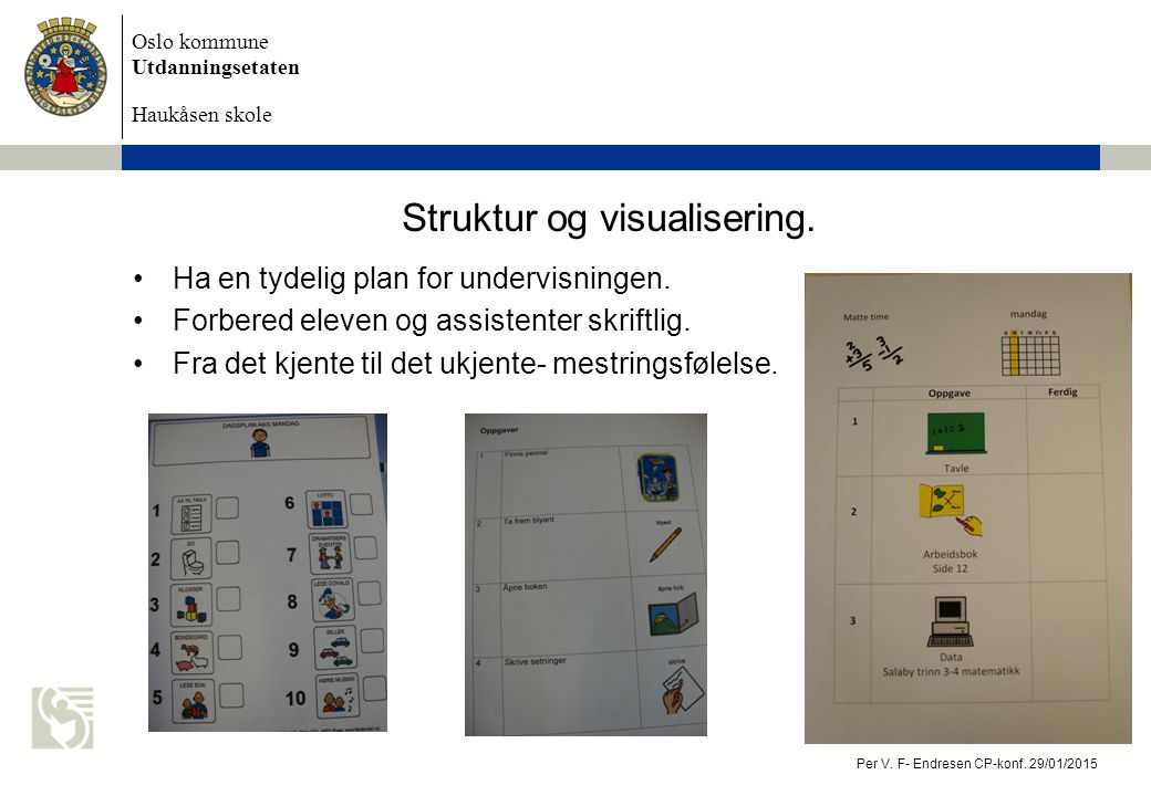 Struktur og visualisering.