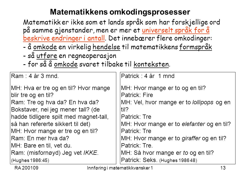 Matematikkens omkodingsprosesser