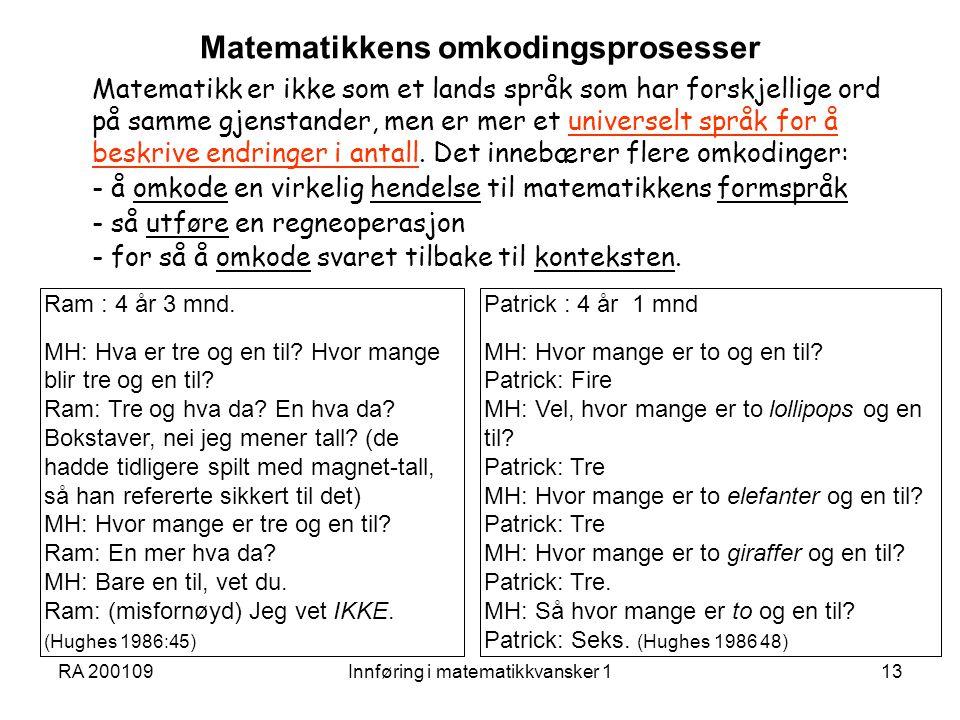 Matematikkens omkodingsprosesser