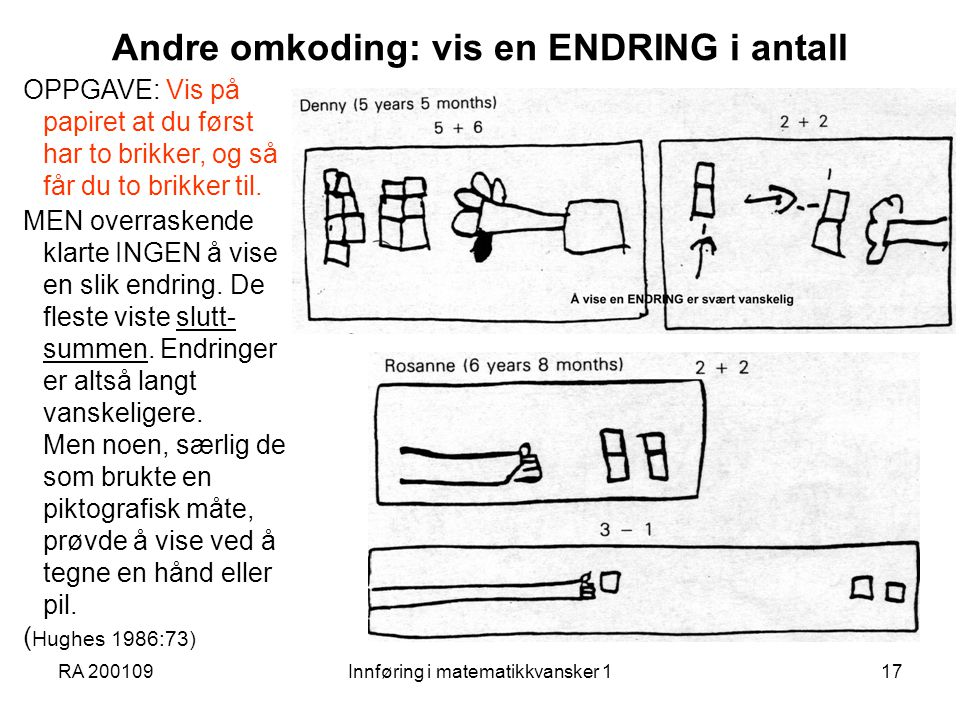 Andre omkoding: vis en ENDRING i antall