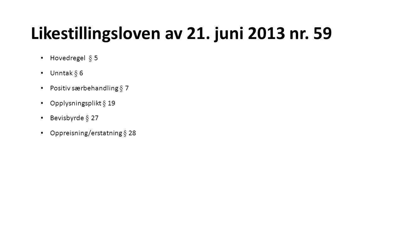 Likestillingsloven av 21. juni 2013 nr. 59