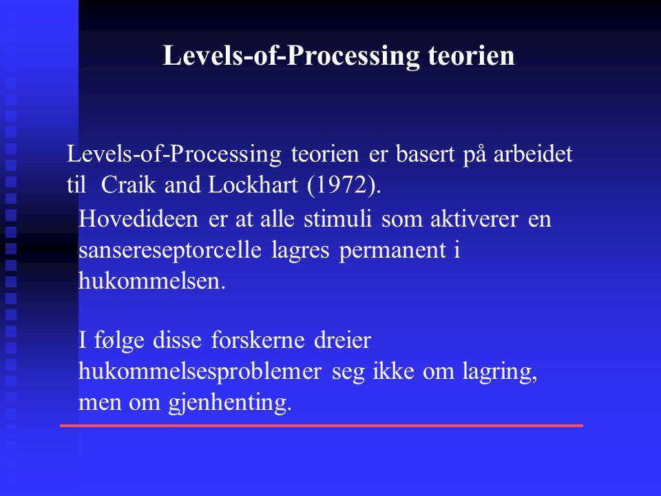 Levels-of-Processing teorien
