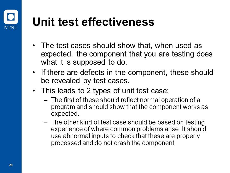 Unit test effectiveness