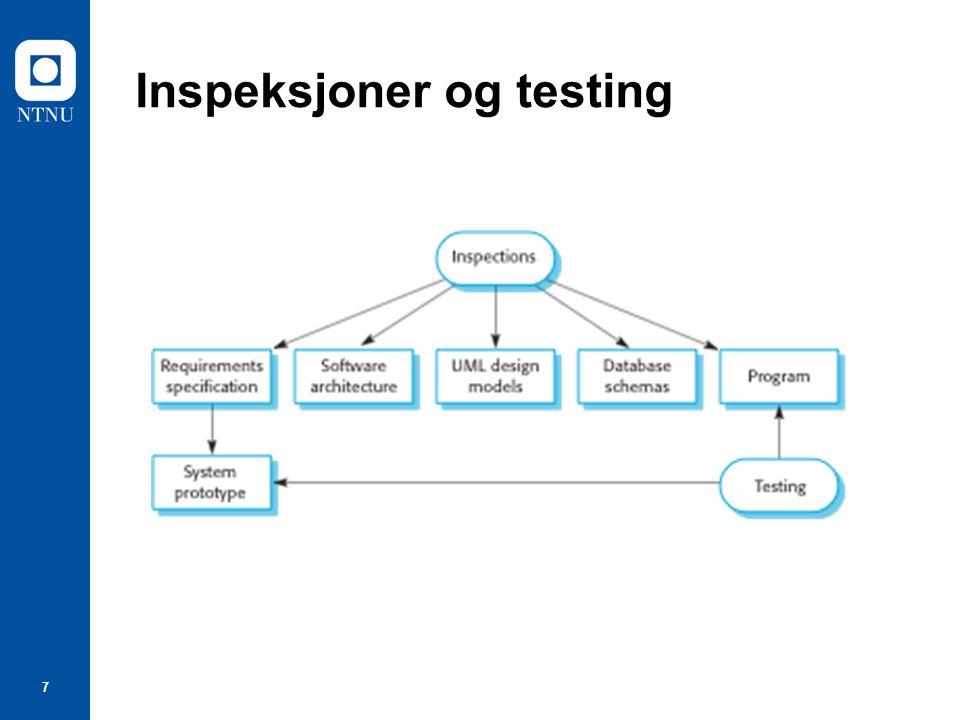 Inspeksjoner og testing