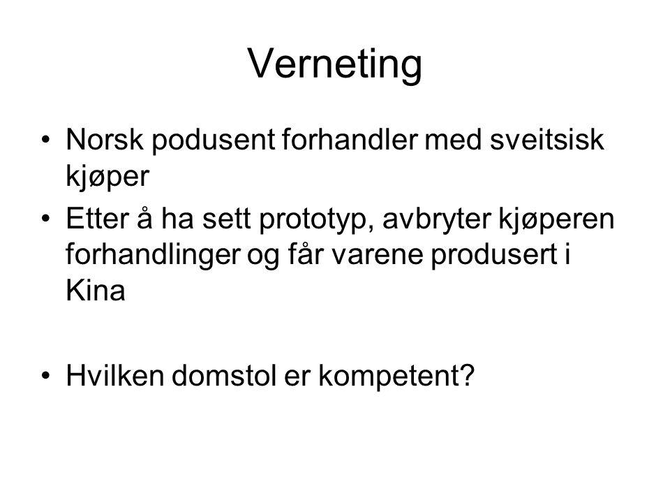 Verneting Norsk podusent forhandler med sveitsisk kjøper