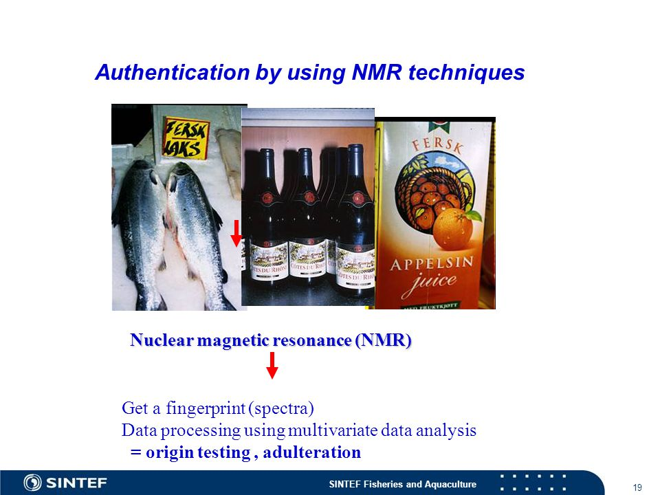 Authentication by using NMR techniques