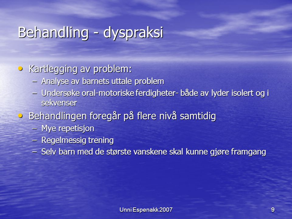 Behandling - dyspraksi