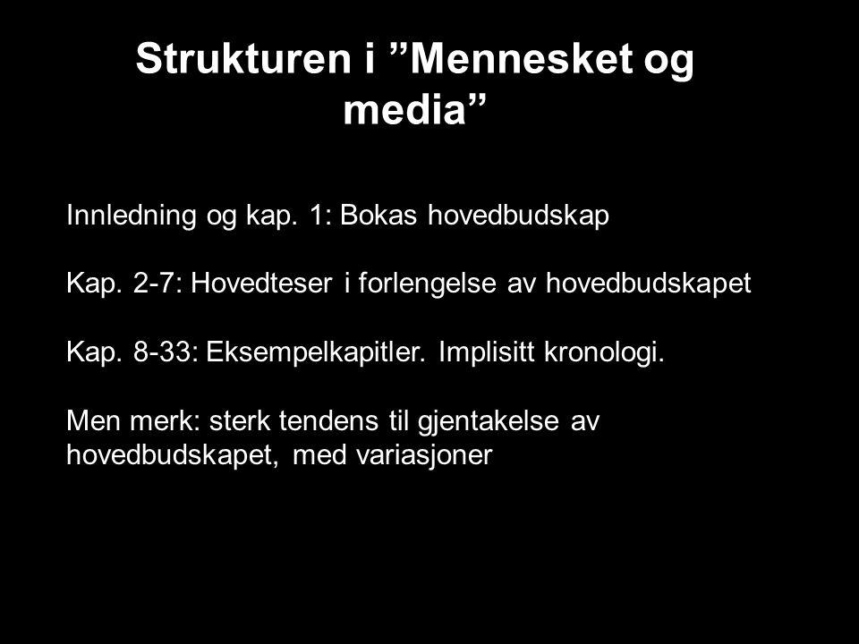 Strukturen i Mennesket og media