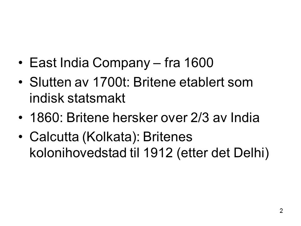 East India Company – fra 1600
