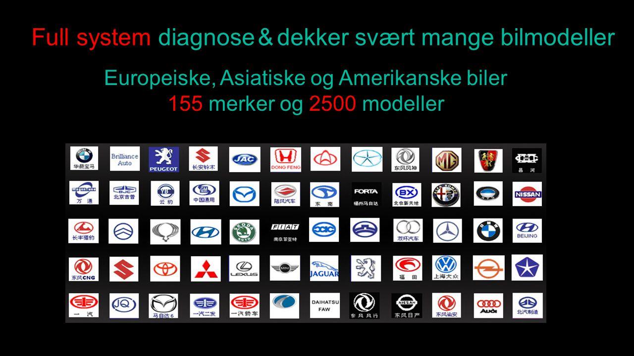 Full system diagnose & dekker svært mange bilmodeller