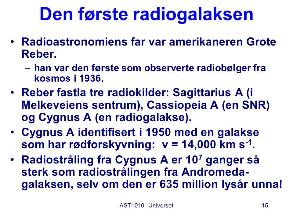 Den første radiogalaksen
