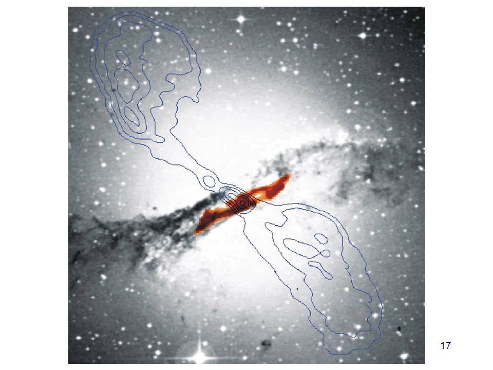 Her er enda et bilde av en radiokilde, radiogalaksen Centaurus A