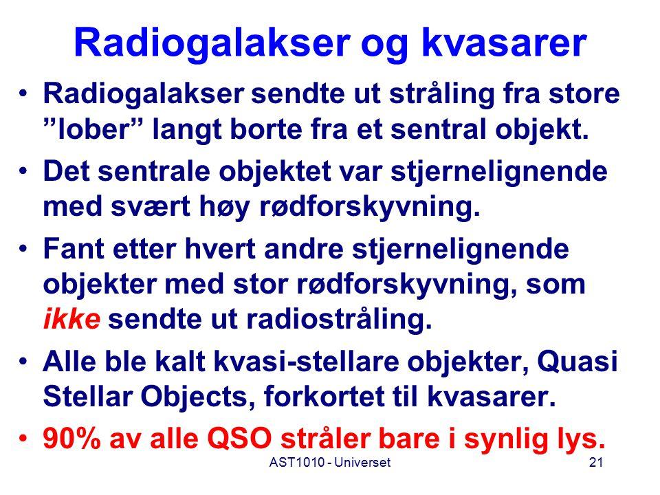 Radiogalakser og kvasarer