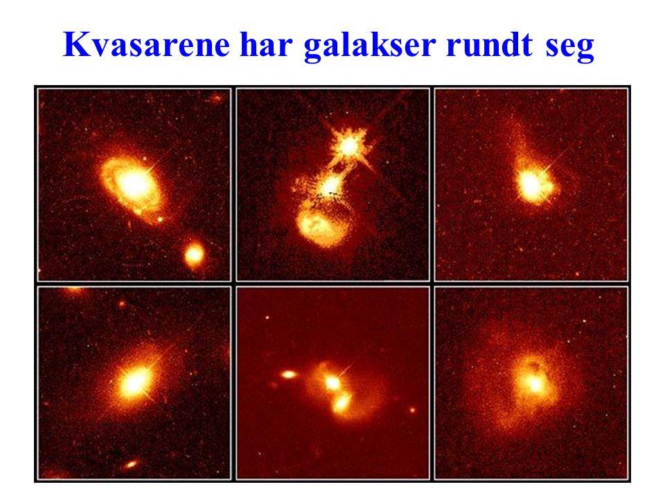 Kvasarene har galakser rundt seg