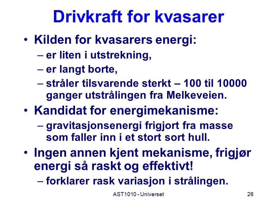 Drivkraft for kvasarer