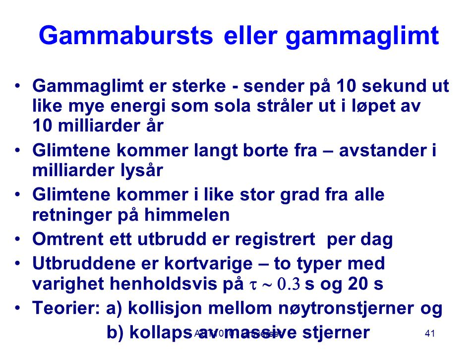 Gammabursts eller gammaglimt