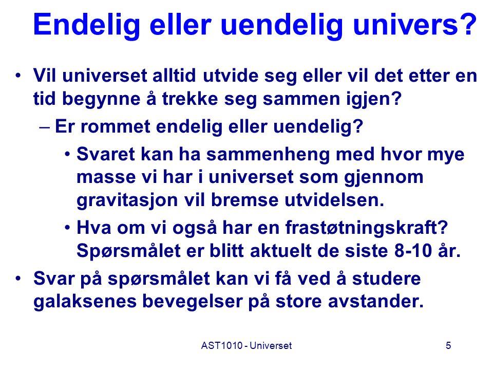Endelig eller uendelig univers
