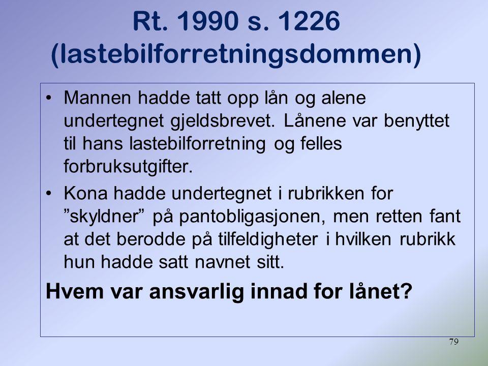 Rt. 1990 s. 1226 (lastebilforretningsdommen)