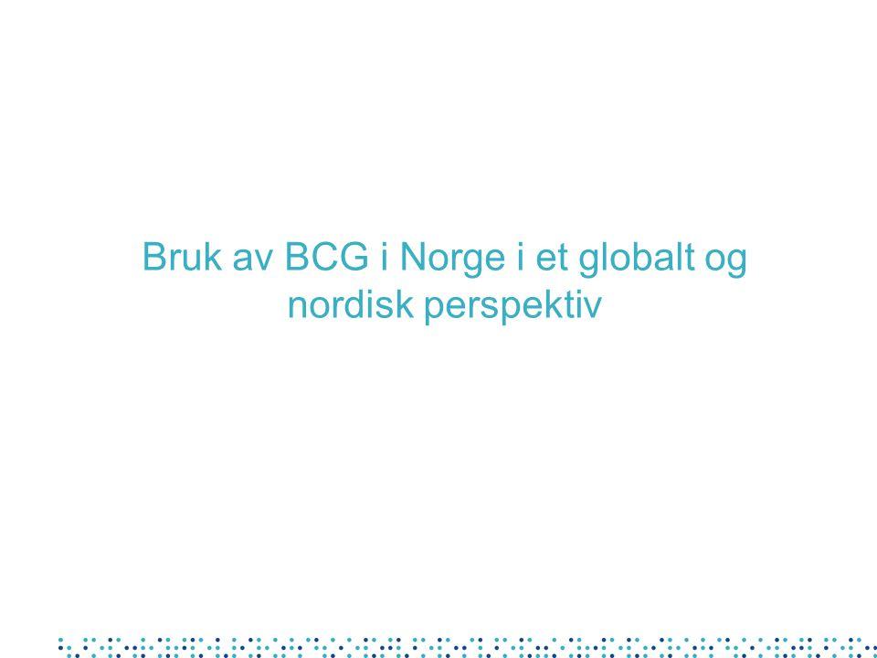 Bruk av BCG i Norge i et globalt og nordisk perspektiv