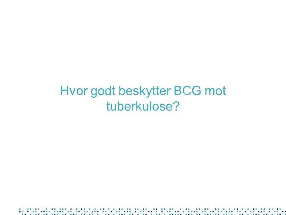 Hvor godt beskytter BCG mot tuberkulose