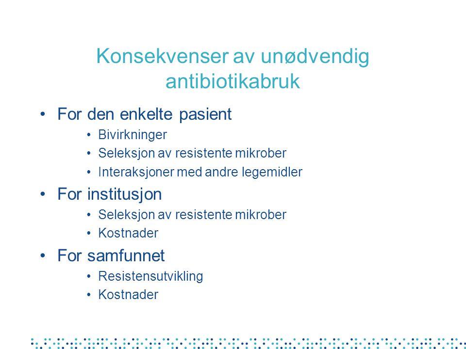 Konsekvenser av unødvendig antibiotikabruk